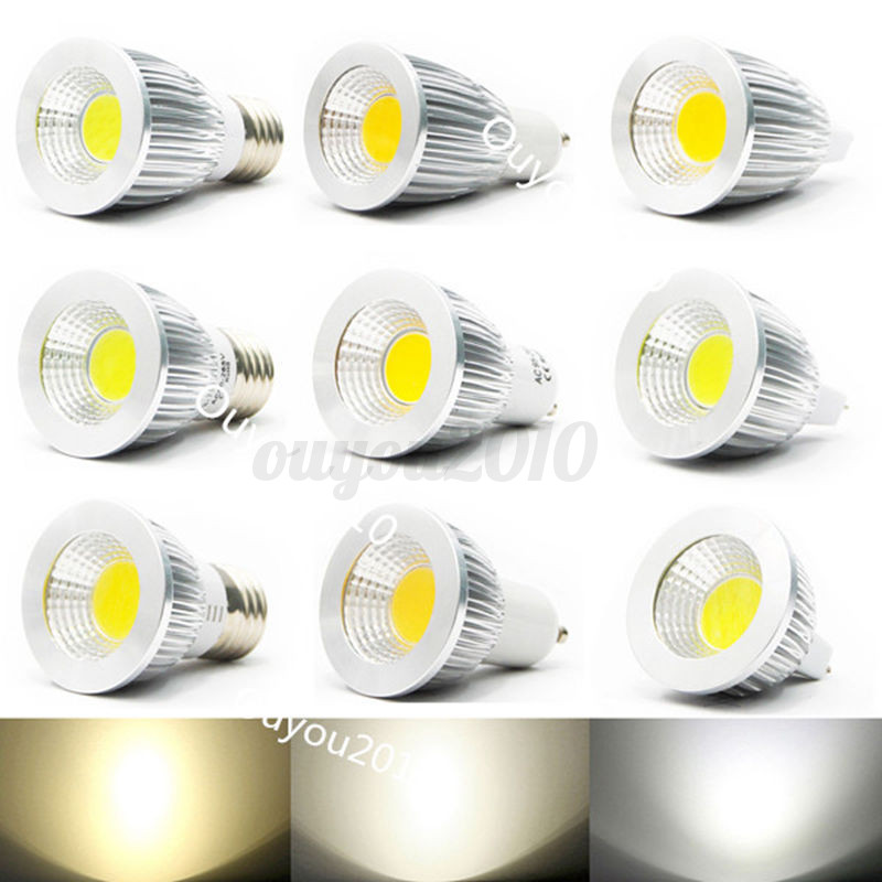 3w 5w 7w e14 e27 gu10 mr16 led dimmbar spot strahler cob lampe licht gl hbirne ebay. Black Bedroom Furniture Sets. Home Design Ideas