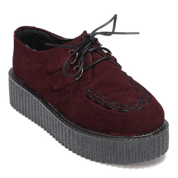 Checker Platform High Heel Ankle Shoes