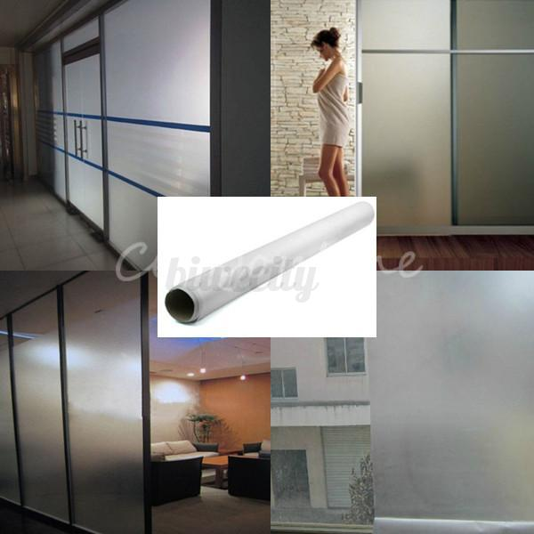 Bedroom Bathroom Pvc Privacy Frosted Sand Blast Glass
