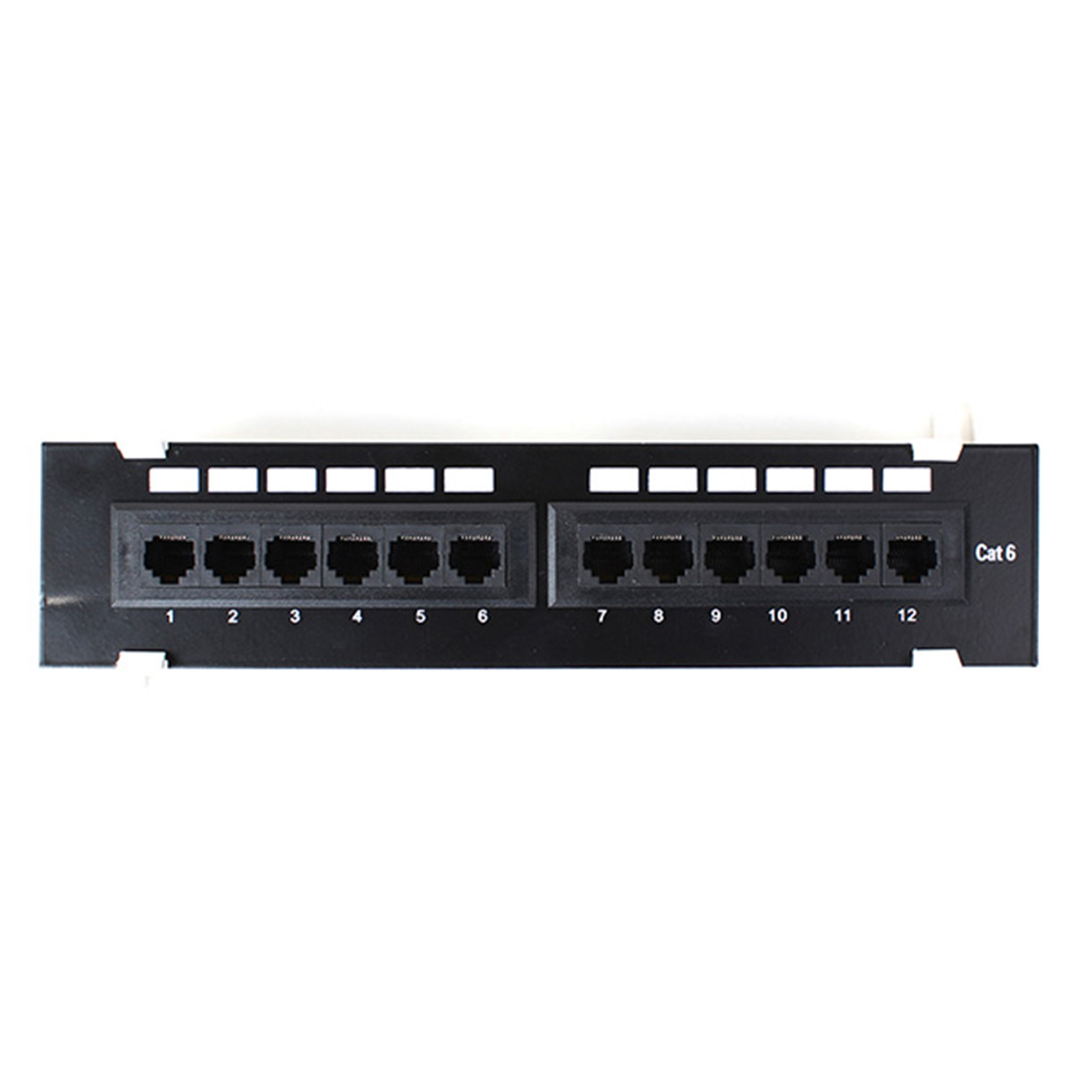 Cat6 12 Port Pro Rj45 Mini Patch Panel 110 Network Surface Wall Mount Cable Networking Wiring Block Jack 1u Ebay Detail Image