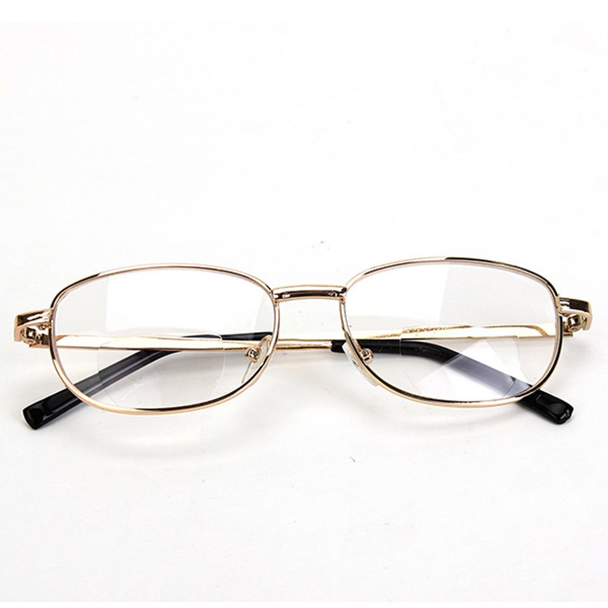 Fashion Bifocal Lens Rimmed Men S Reading Glasses Gold