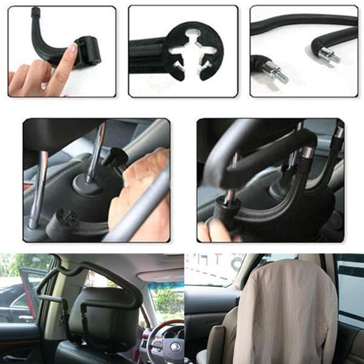 2 X Crochet appuis-tete Voiture patères appuie-tête Cintre poches Support de voiture