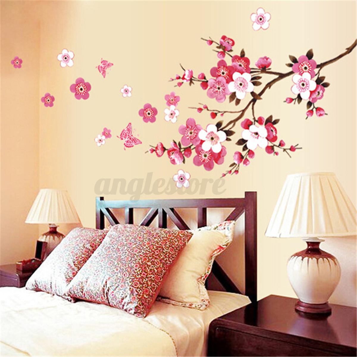 Large sakura flower removable wall sticker paper mural art decal large sakura flower removable wall sticker paper mural amipublicfo Gallery