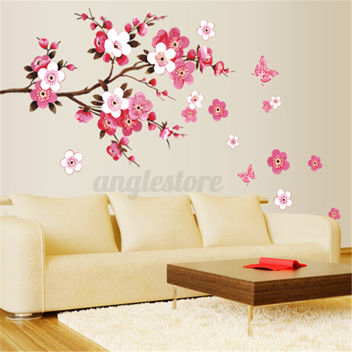 Large Sakura Flower Removable Wall Sticker Paper Mural Art Decal Home Room  Decor | EBay