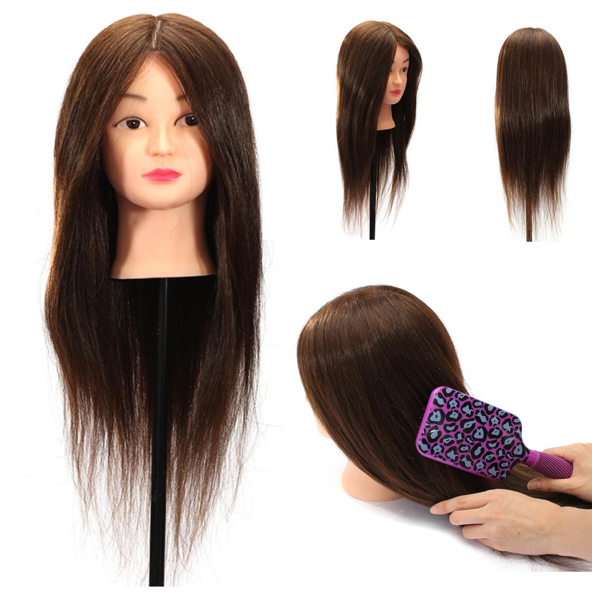18 20 22 24 26 Hair Mannequin Cut Hairdressing Training Head Doll Clamp Ebay