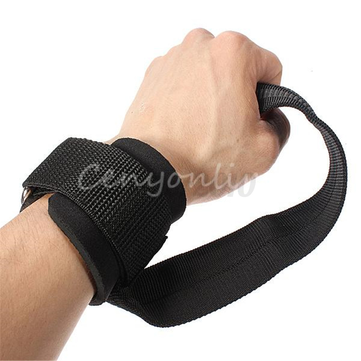1 Pair Weight Lifting Hand Bar Grips Straps Wrist Support: 1 Pair Gym Training Weight Lifting Bar Straps Wrap Hand