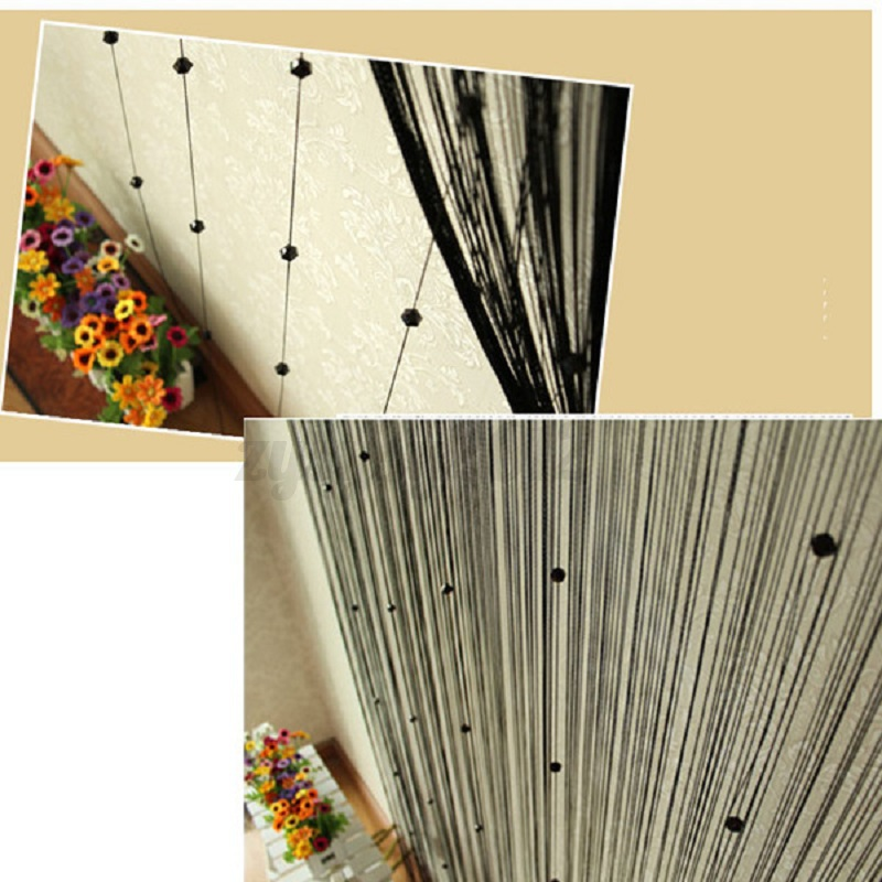 Sparkle Beaded String Door Window Curtain Room Divider Fly