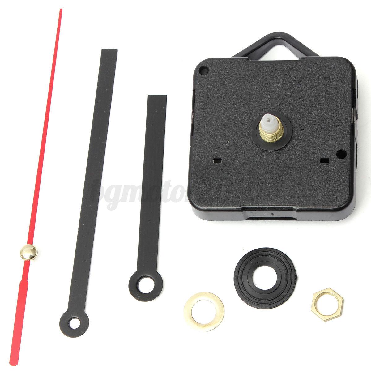 Diy Black Hands Short Spindle Wall Quartz Clock Mechanism
