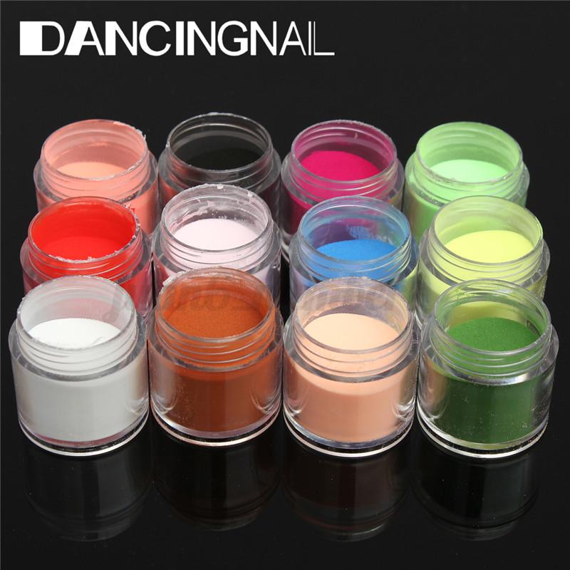 18-Colori-Acrilico-Glitter-Nail-Art-UV-Gel-Polvere-Manicure-3D-Tips-Design-Decor