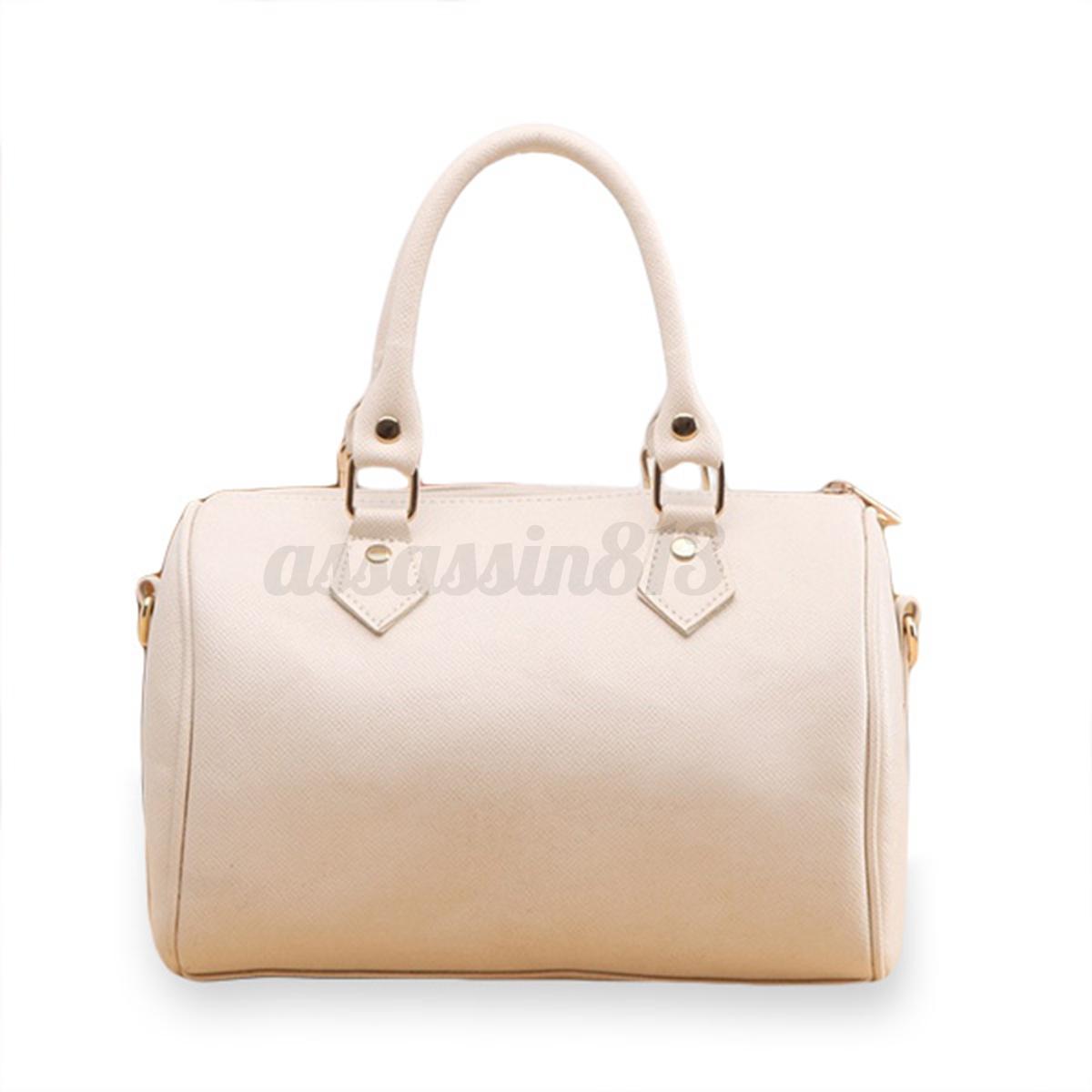 Women Leather Handbag Shoulder Shopping Bag Tote Lady Purse ...