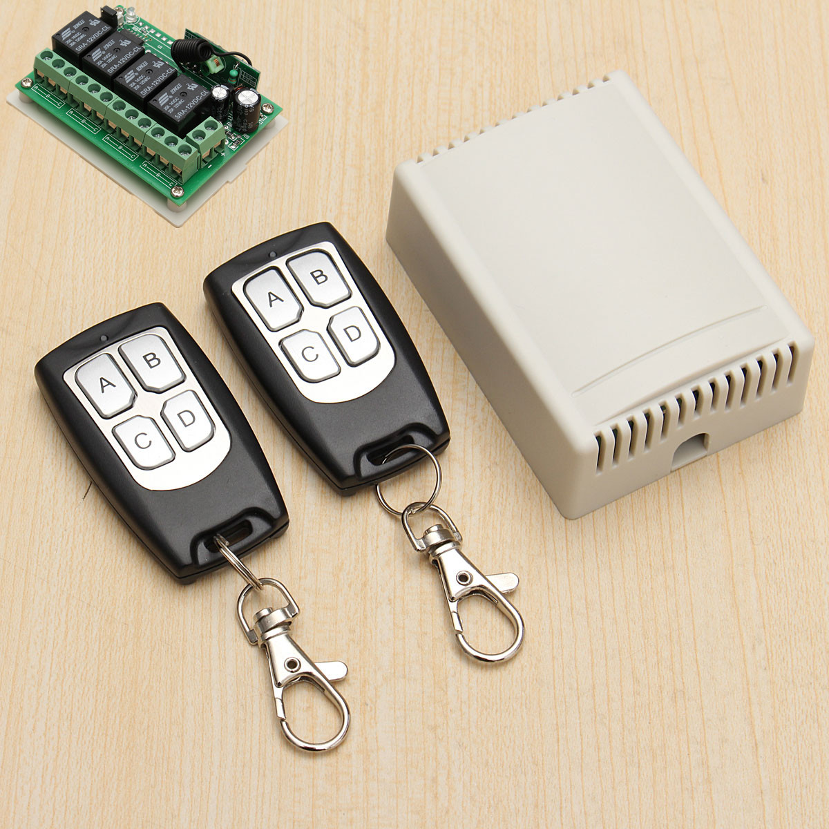 Details about 12V 4CH Channel 200M Wireless Remote Control Relay Switch  Transceiver + Receiver