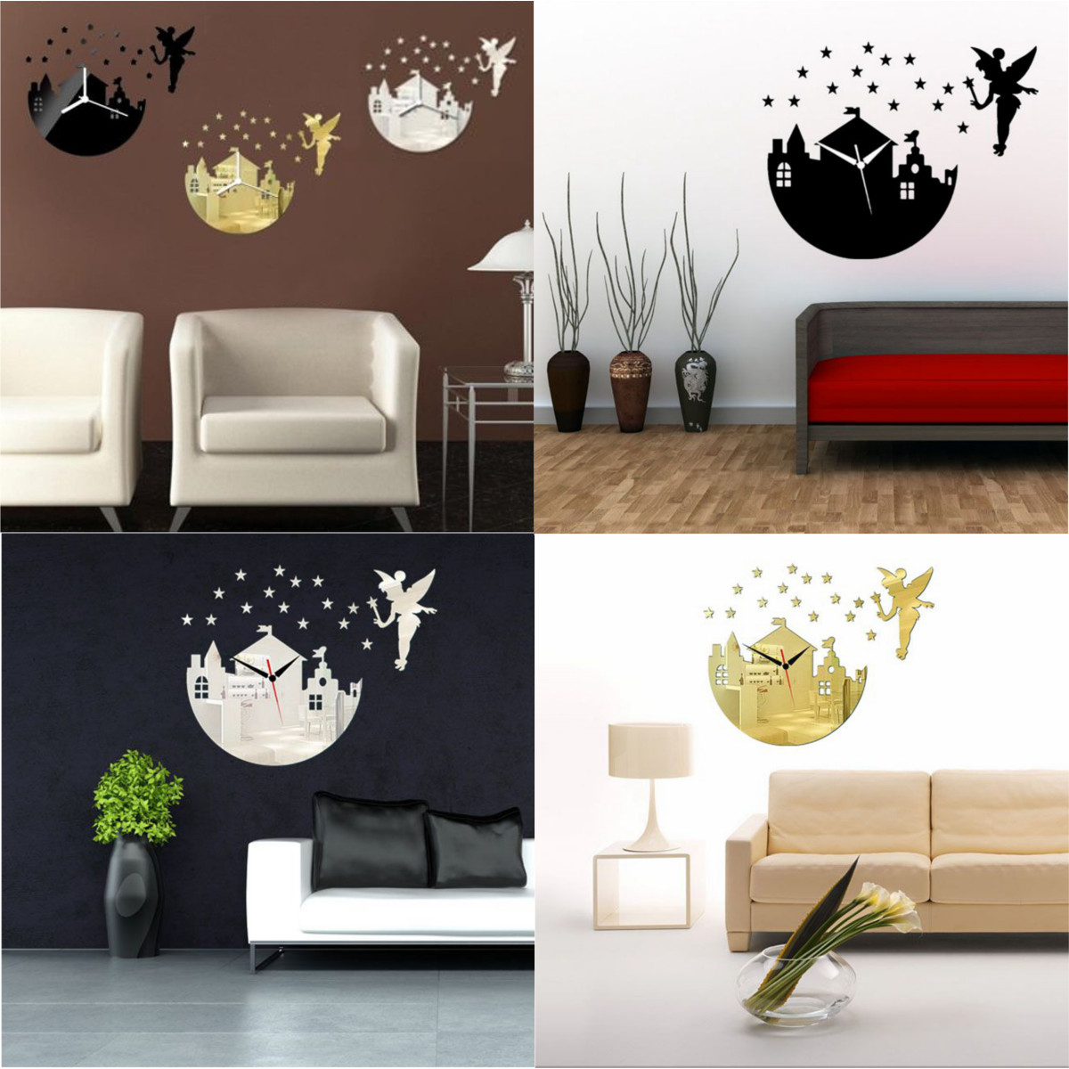 30x diy rund kreis wandtattoo spiegel aufkleber sticker wand wohnzimmer bad deko ebay. Black Bedroom Furniture Sets. Home Design Ideas