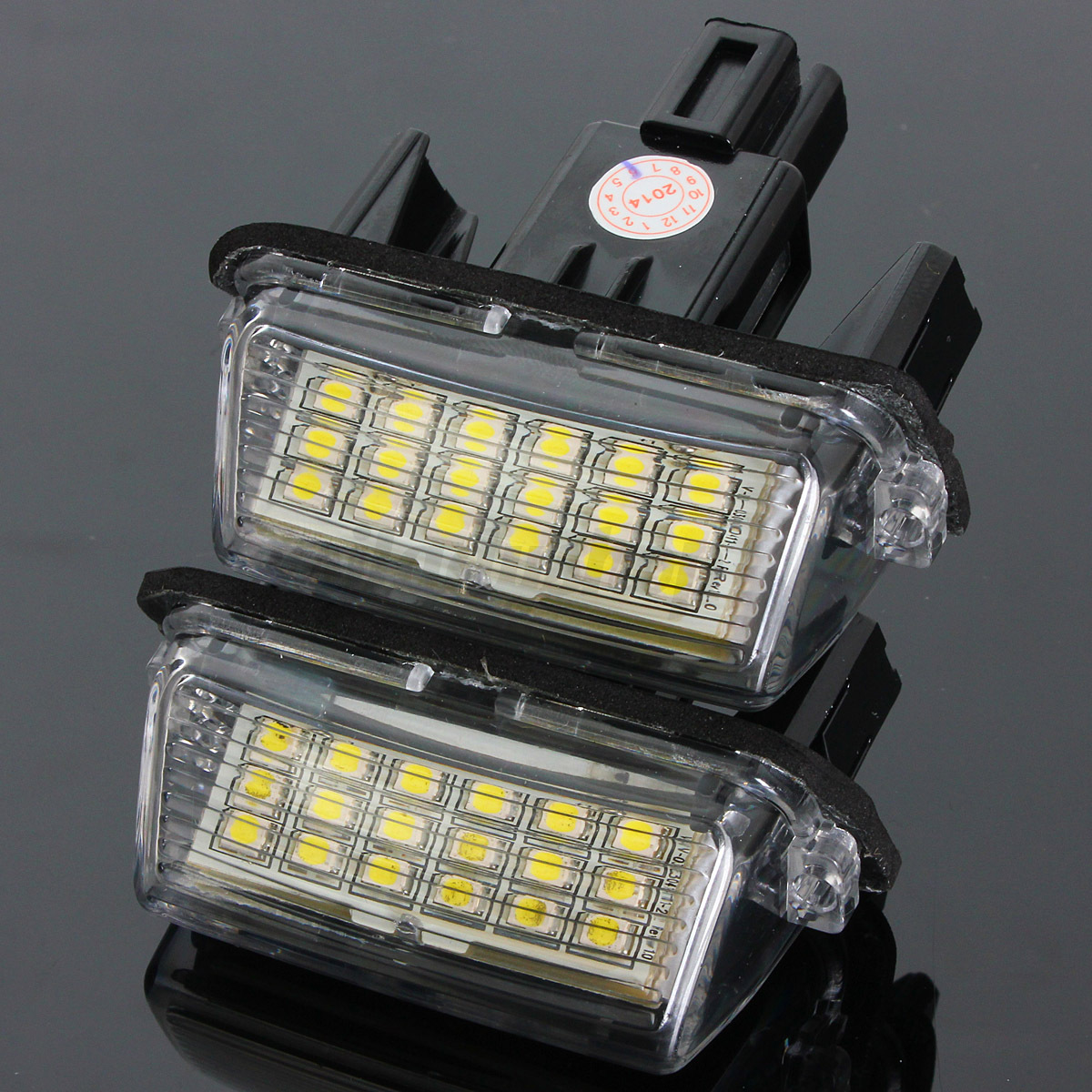 2x Led License Number Plate Light For Toyota Camry Yaris Prius Corolla Fielder 970846407236