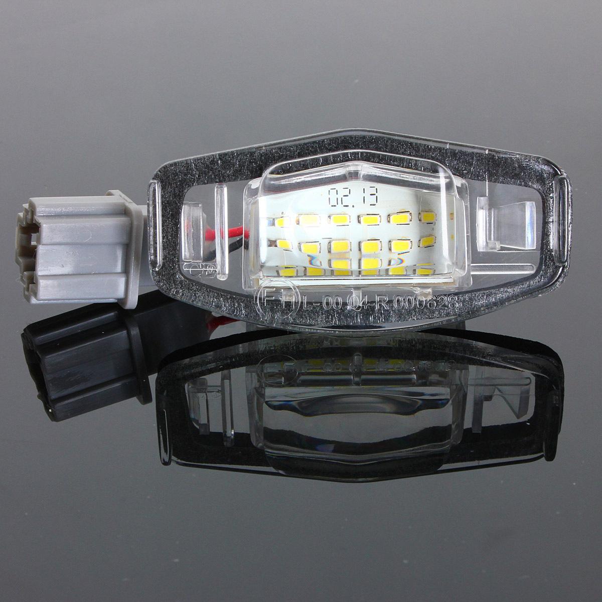 2x LED License Plate Light For Acura TL TSX MDX Honda ...