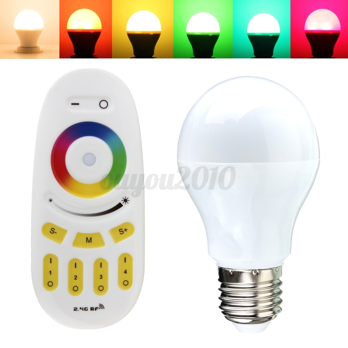 e27 6w led rgbw gl hbirne 2 4g rf fernbedienung mi light wifi remote 2 4ghz ebay. Black Bedroom Furniture Sets. Home Design Ideas