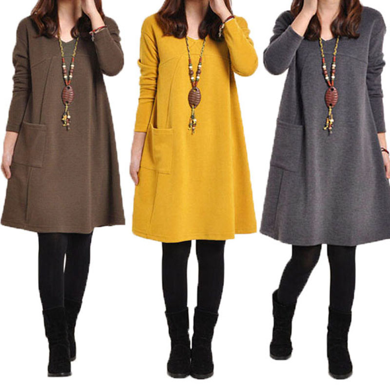 fe7ccbc00823 Details about UK 8-24 Women Casual V Neck Long Sleeve Baggy Tunic Tops Shirt  Party Mini Dress