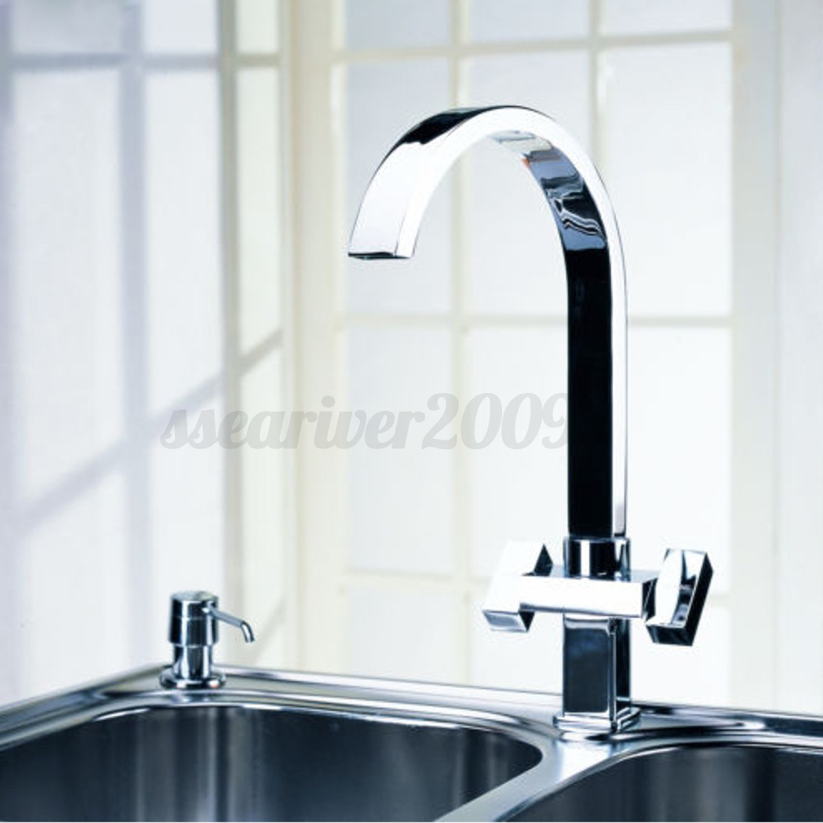 Kitchen faucet swivel spout pull down sprayer bathroom - Bathroom sink faucet with sprayer ...