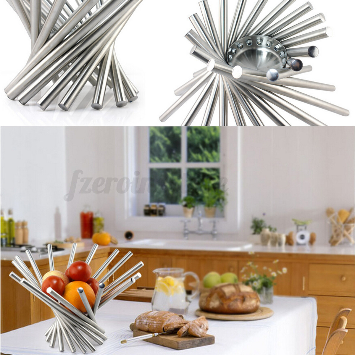 Stainless steel full vortex fruit rack plate tray holder for Aana decoration decorative tray