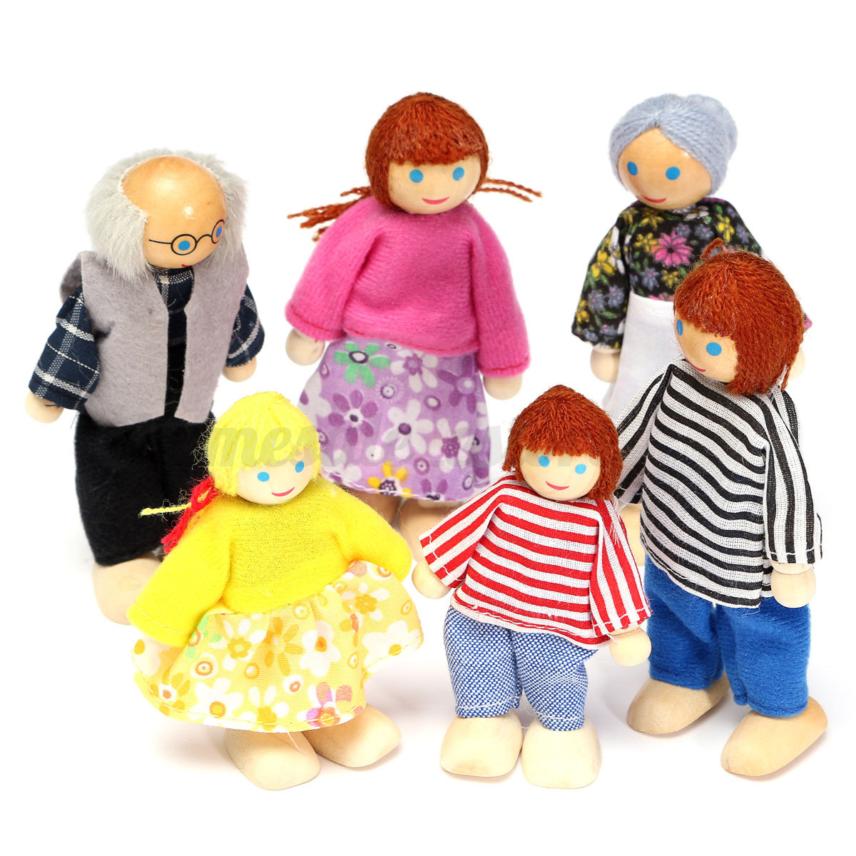 Family 4 Dolls Suits 1 Mom//1Dad//2 Girl for Girls Play House Toy HK