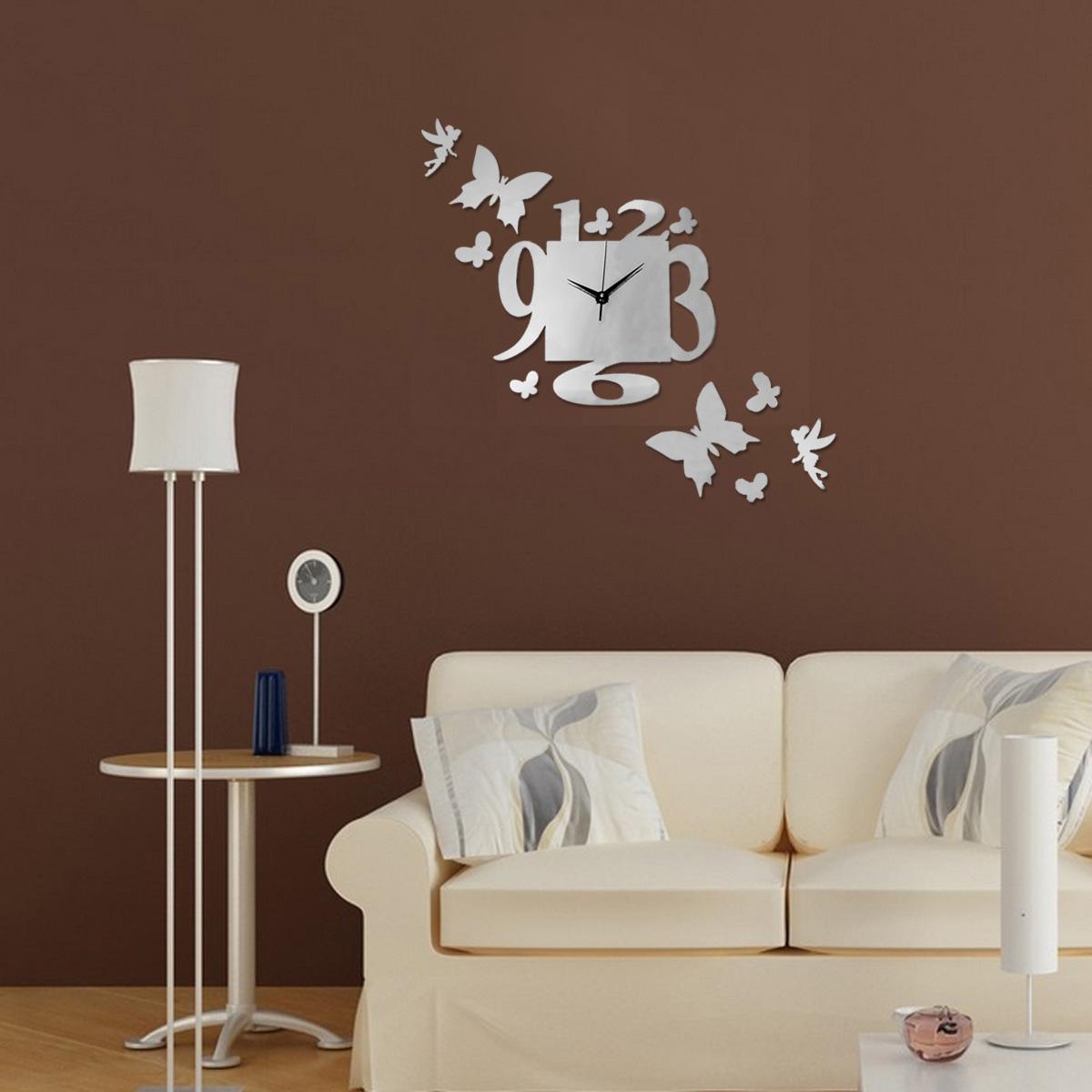 3D DIY Modern Wall Clock Stickers Decal Art Decor Home ...
