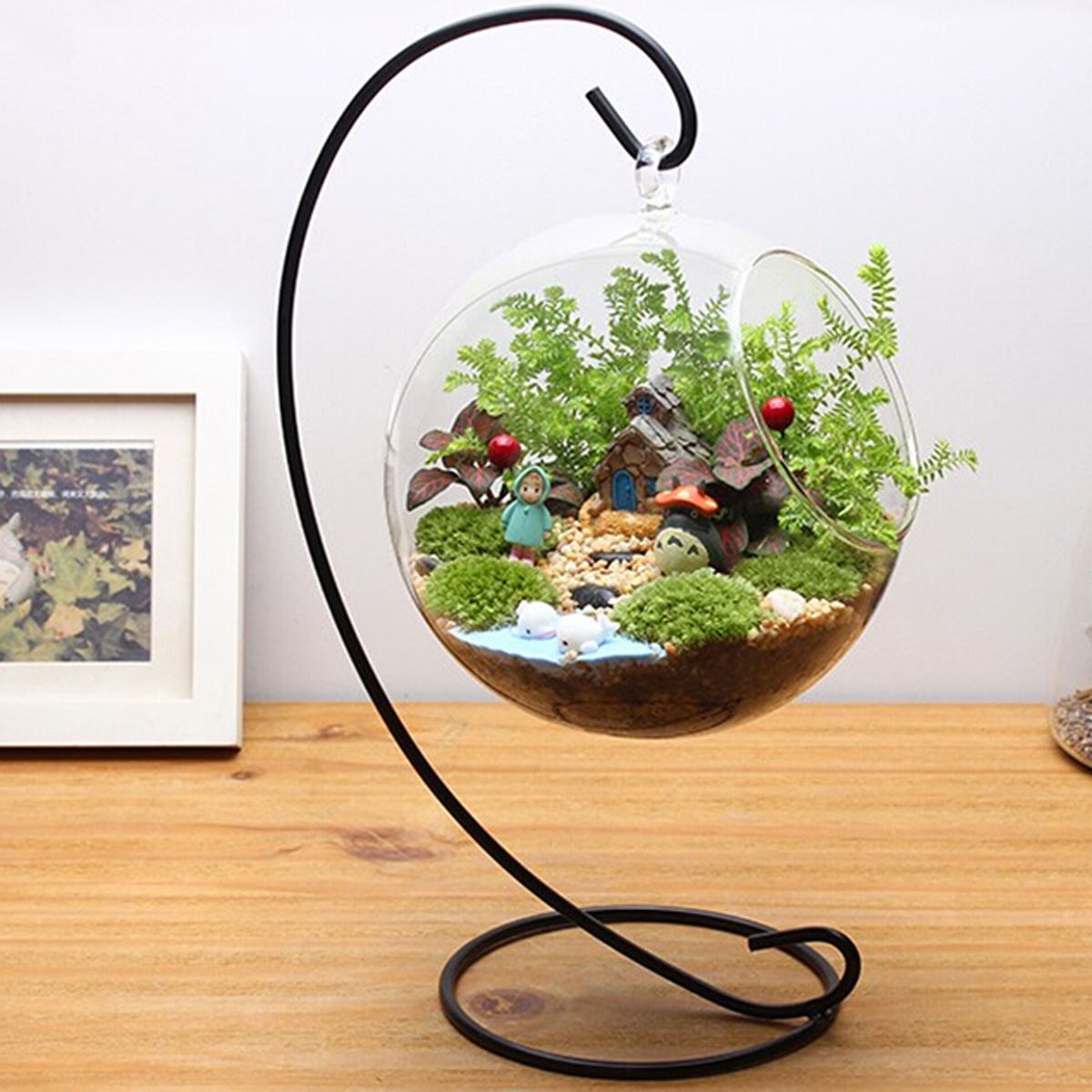 Black Metal Iron Stand Holder For Hanging Plant Pot Plant ... on Hanging Plants Stand  id=85061