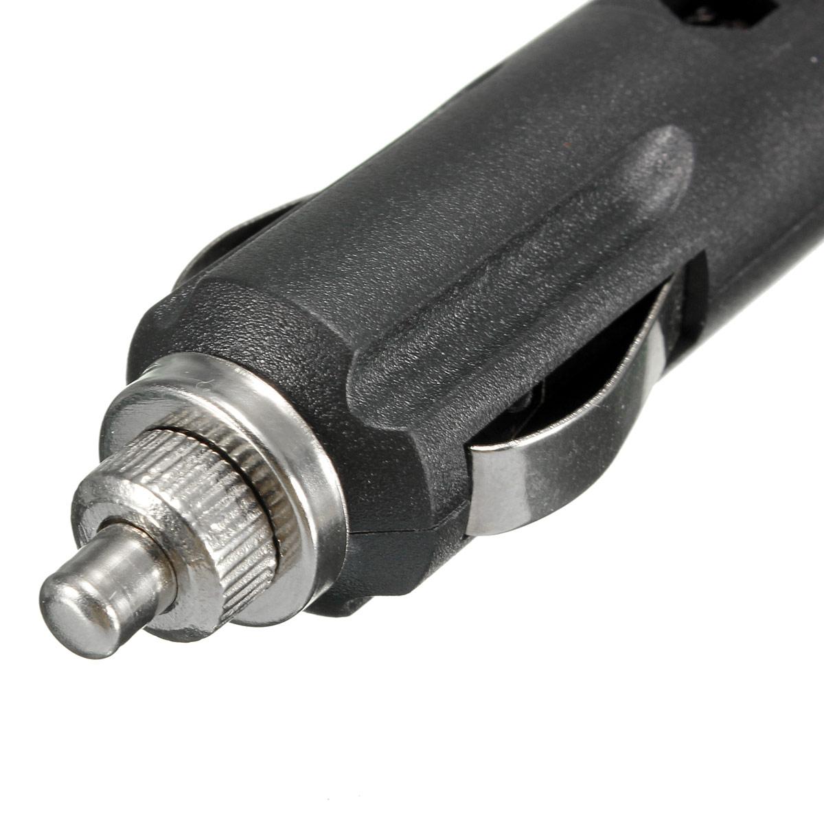 12V Male Car Cigarette Lighter Socket Plug Connector With
