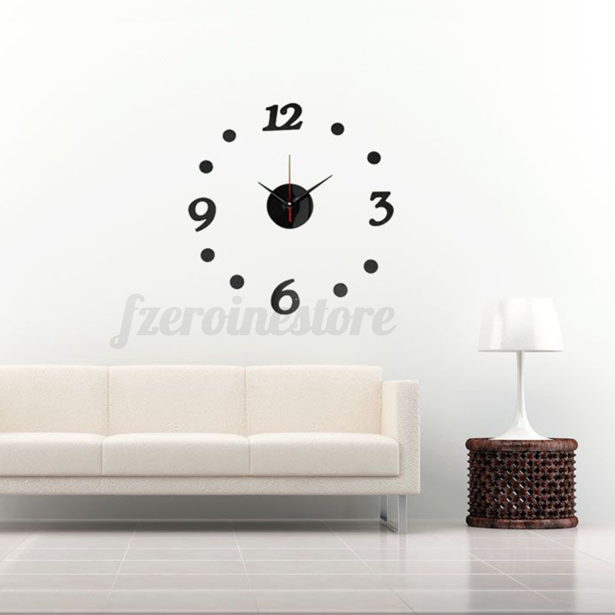 3d Adhesive Wall Clock Sticker Mirror
