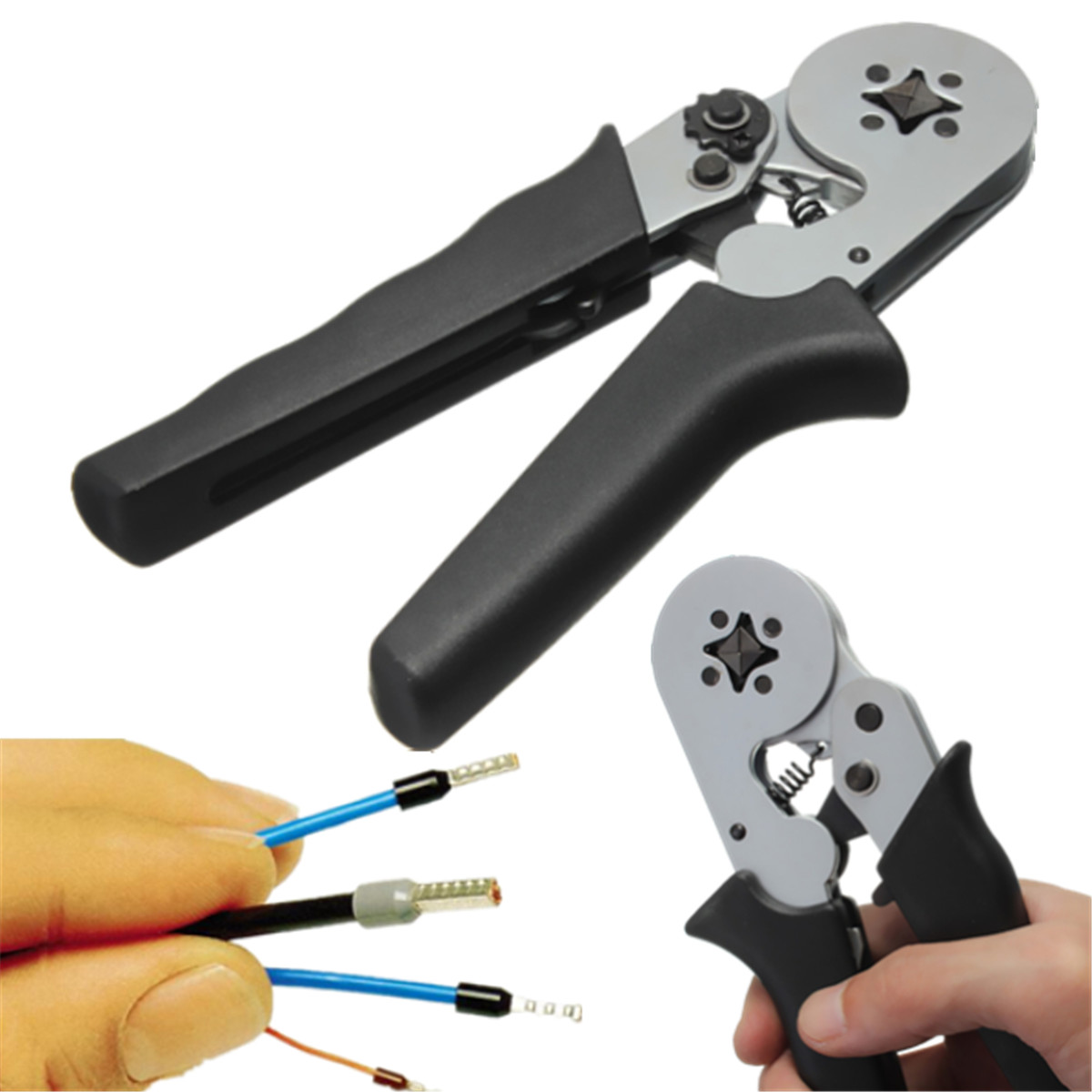 terminal crimping tool bootlace ferrule crimper cord wire end sleeves ebay. Black Bedroom Furniture Sets. Home Design Ideas