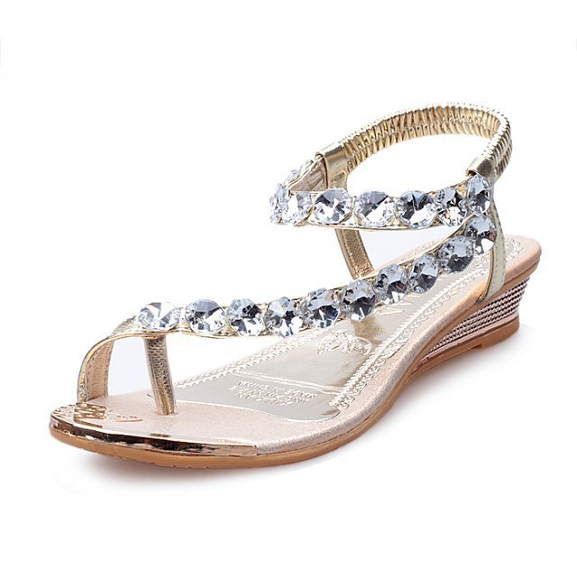 cca09232f 2018 Women Rhinestone Flat Sandals Thong Bohemia Shoes Beach Flip Flops  Slippers