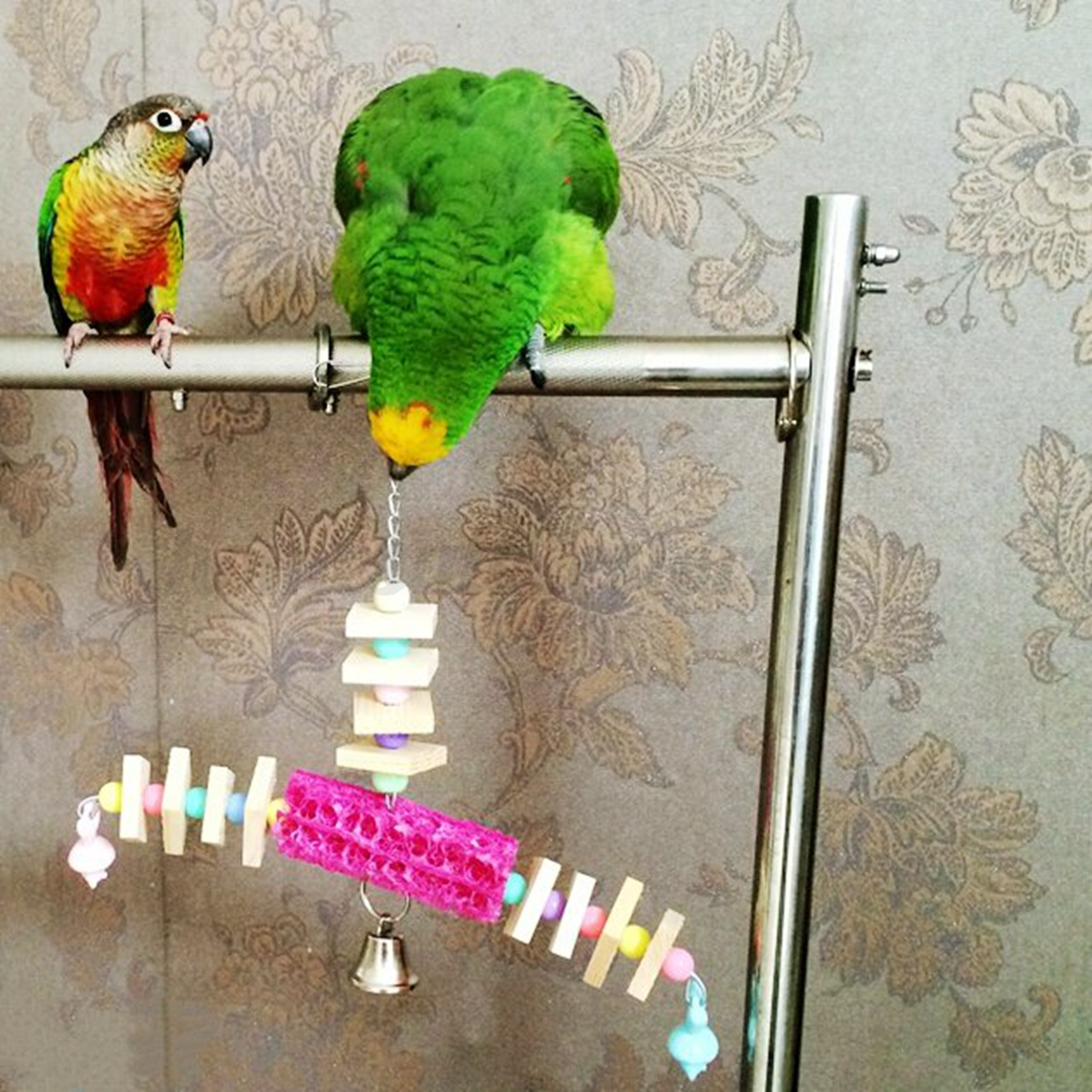 Parakeet Chew Toys : Various pet bird parrot swing hanging standing chew toys