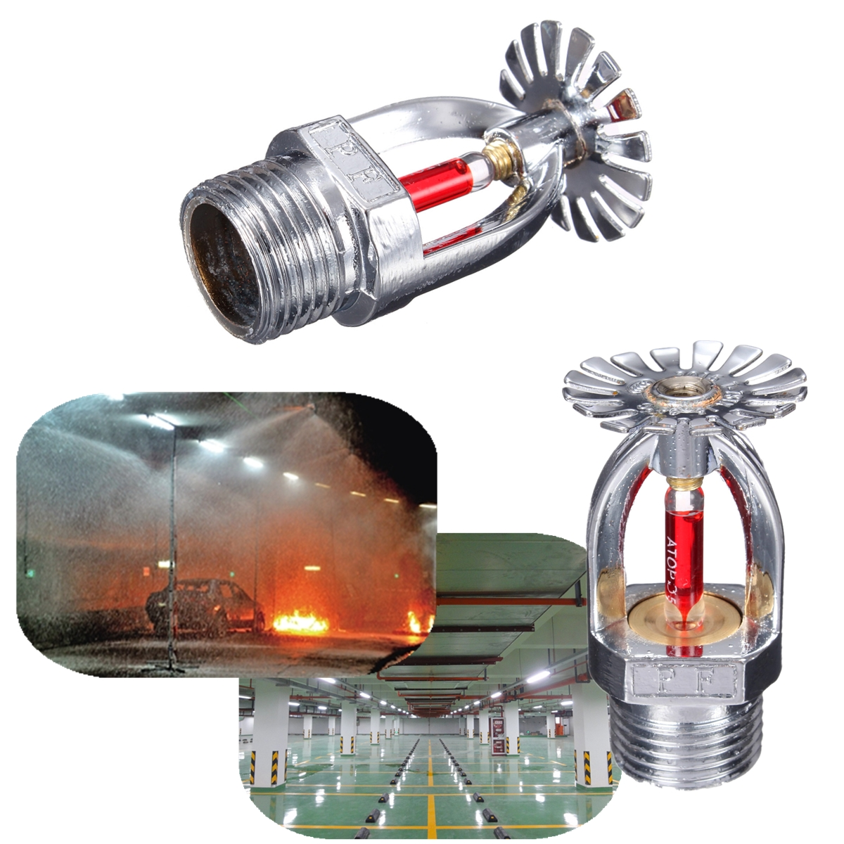 Details about 10x 68℃ ZSTX-15 Pendent Fire Sprinkler Head Fire  Extinguishing System Protection