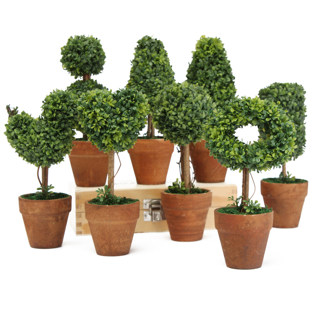Plastic Garden Grass Ball Topiary Tree Pot Dried Plant for Wedding ...