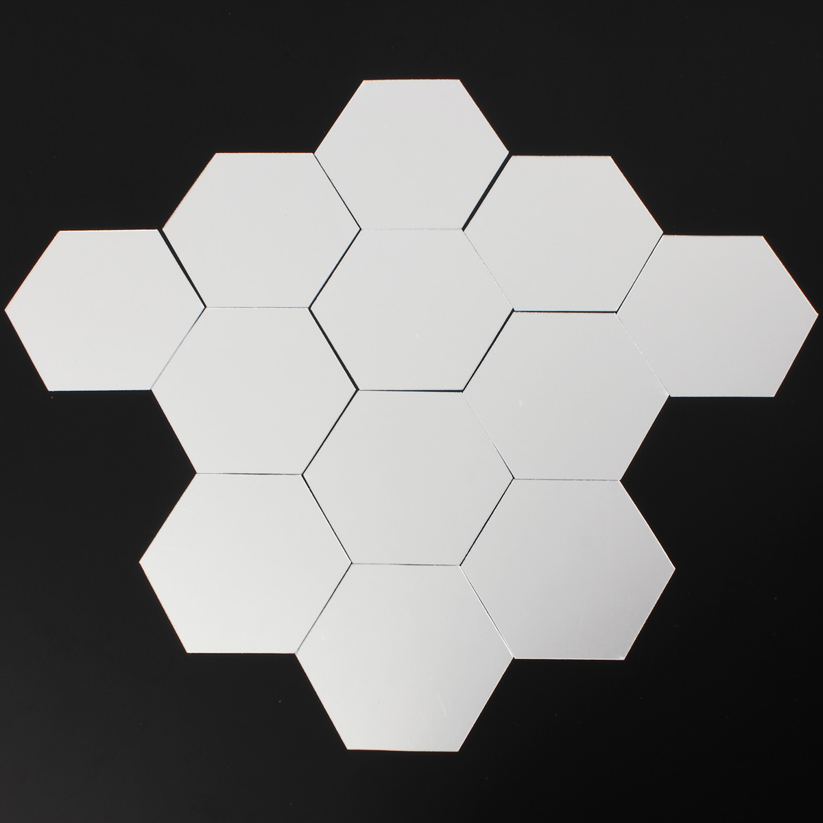 12PCS 3D MIRROR EFFECT GEOMETRIC HEXAGON ACRYLIC WALL ...