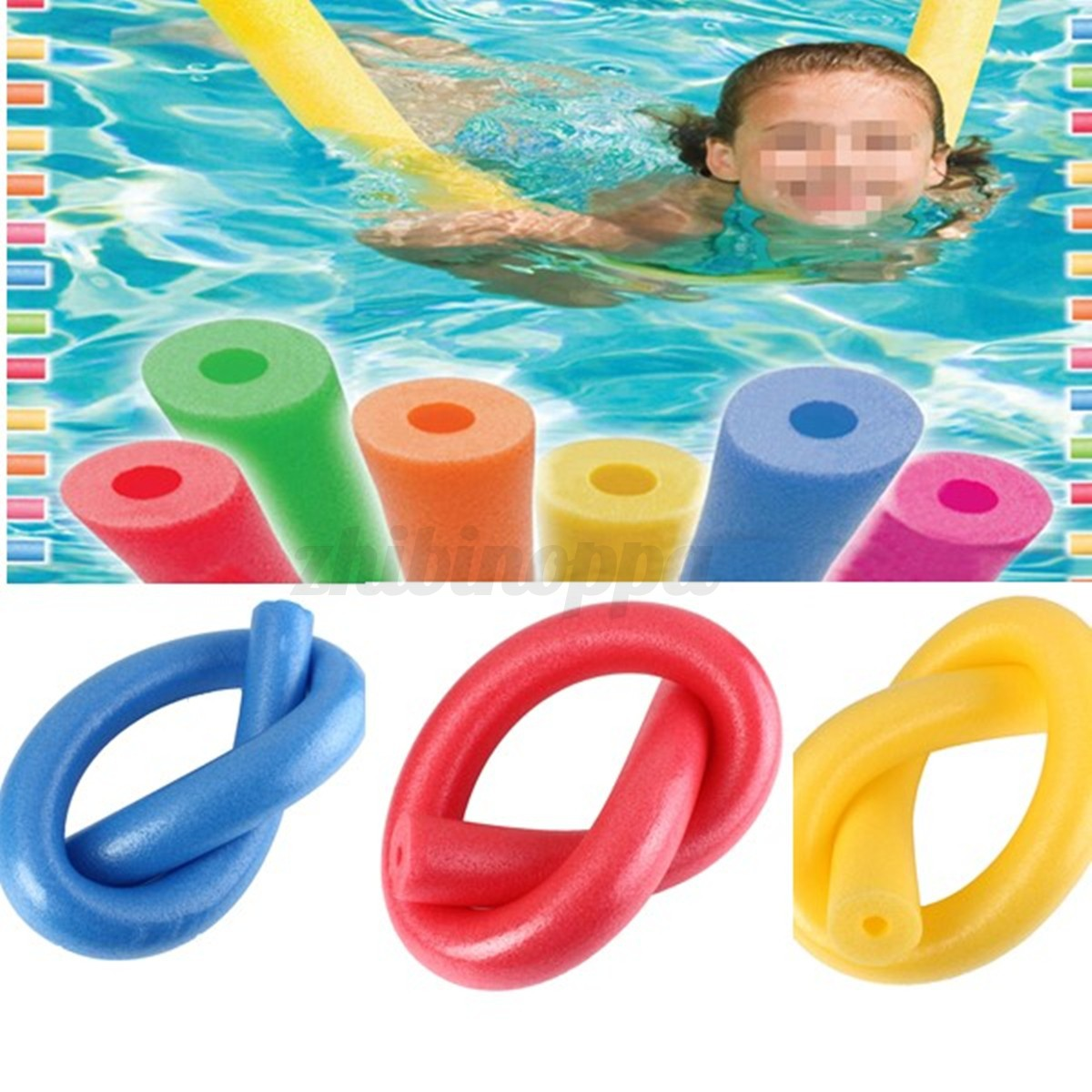 Fun Swimming Swim Pool Noodle Water Float Aid Woggle Noodles Hollow