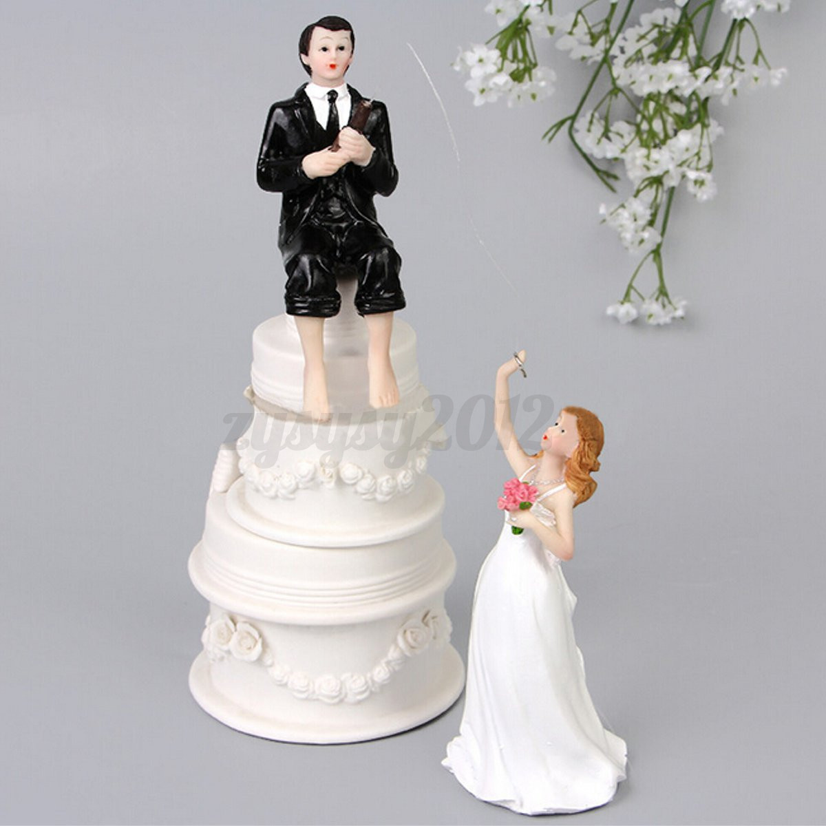romantic wedding cake toppers wedding cake toppers figure and groom 19257