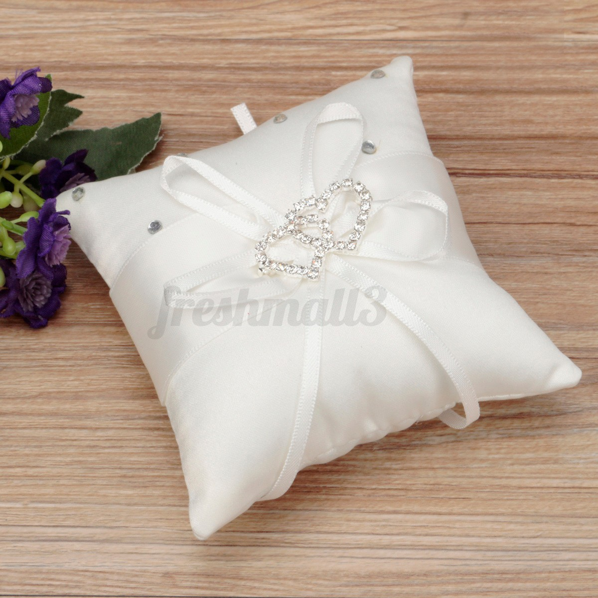 wedding silk pillow ribbon vintage decor ivory holder bridal beads jasmine ring flower bearers embroideried satin style gifts embroidered for