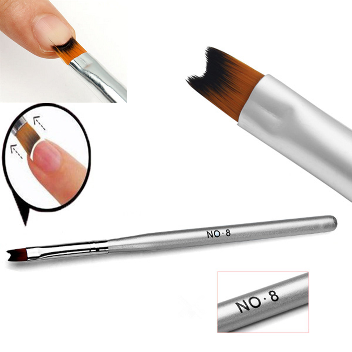 1Pcs Acrylic Painting Drawing French Manicure Pen Brush Design Nail ...