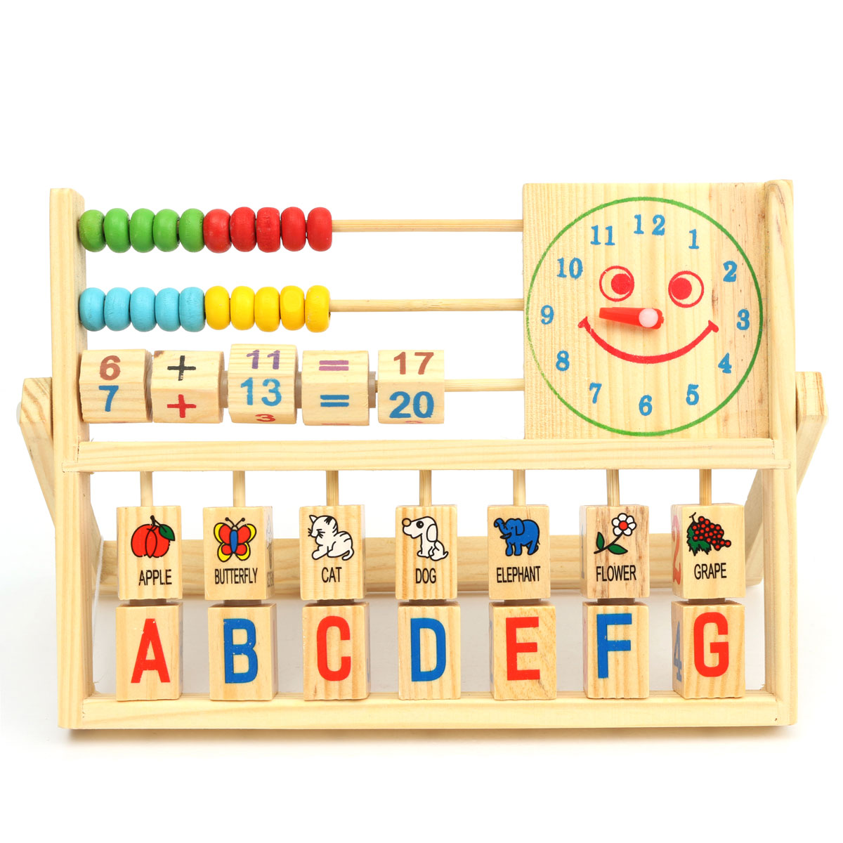 10 rows kids learning counting math developmental versatile wooden