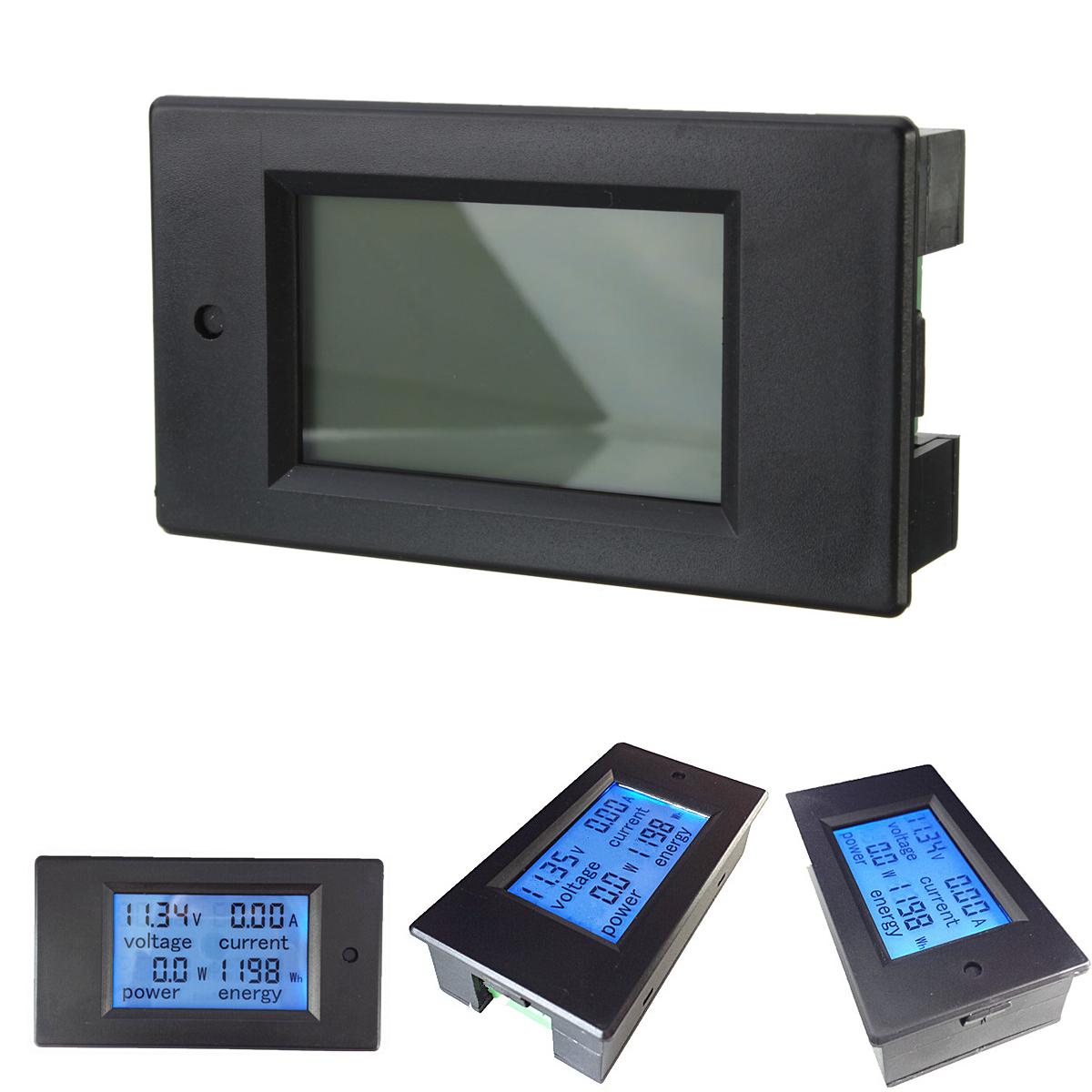 Digital Power Monitor : Dc a ammeter tester digital led power meter monitor