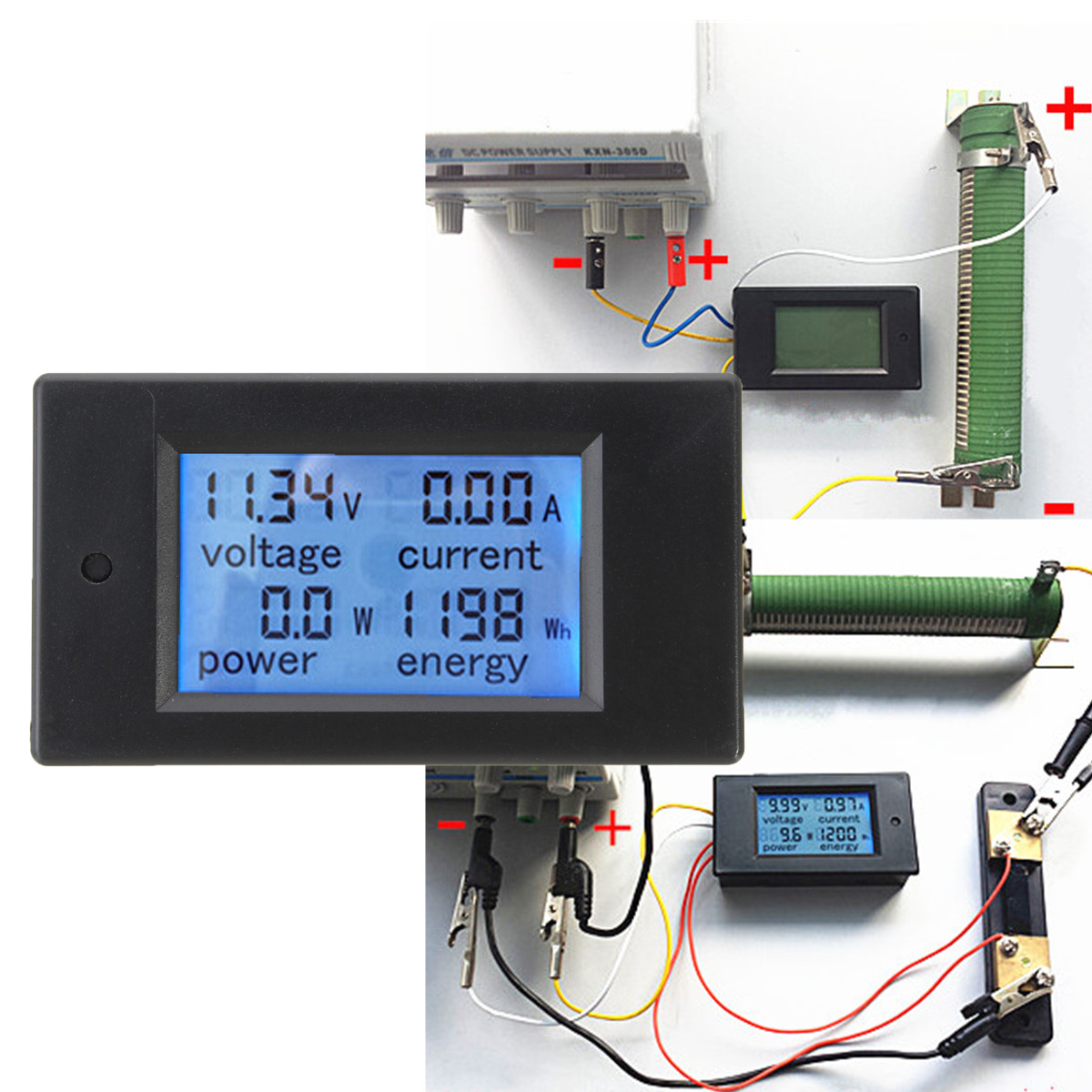 Digital Power Monitor : Dc a digital led power meter monitor energy