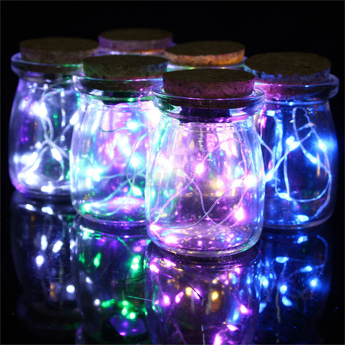 String Lights Vase : Micro 10 LED Seed Vine Vase Lamp Glass Bottle Fairy String Light Home Xmas Decor eBay