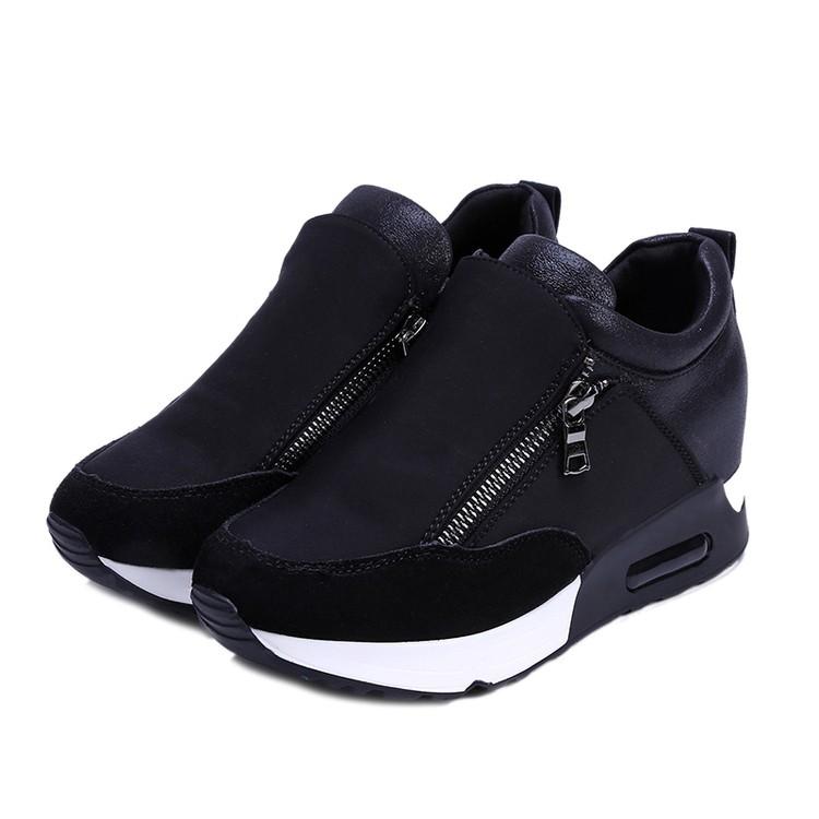 Femmes-Fille-Sneakers-Course-Sport-Jogging-GYM-Chaussures-A-Lacets-Baskets-Shoes miniature 11