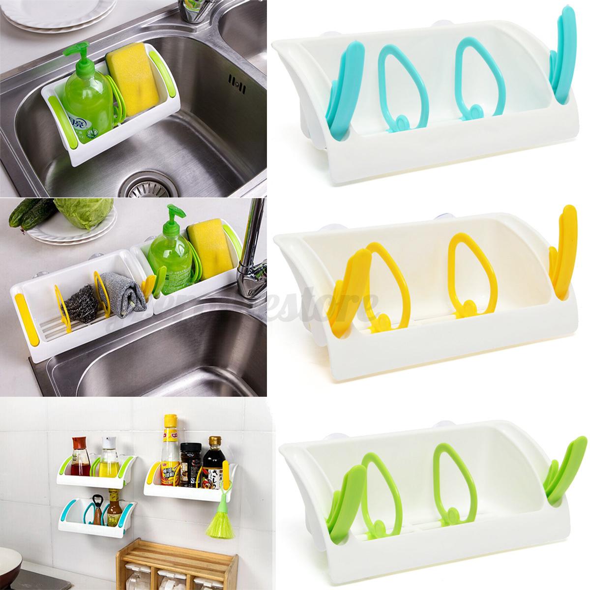 Image Is Loading Sink Sponge Tub Suction Rack Cup Holder Storage
