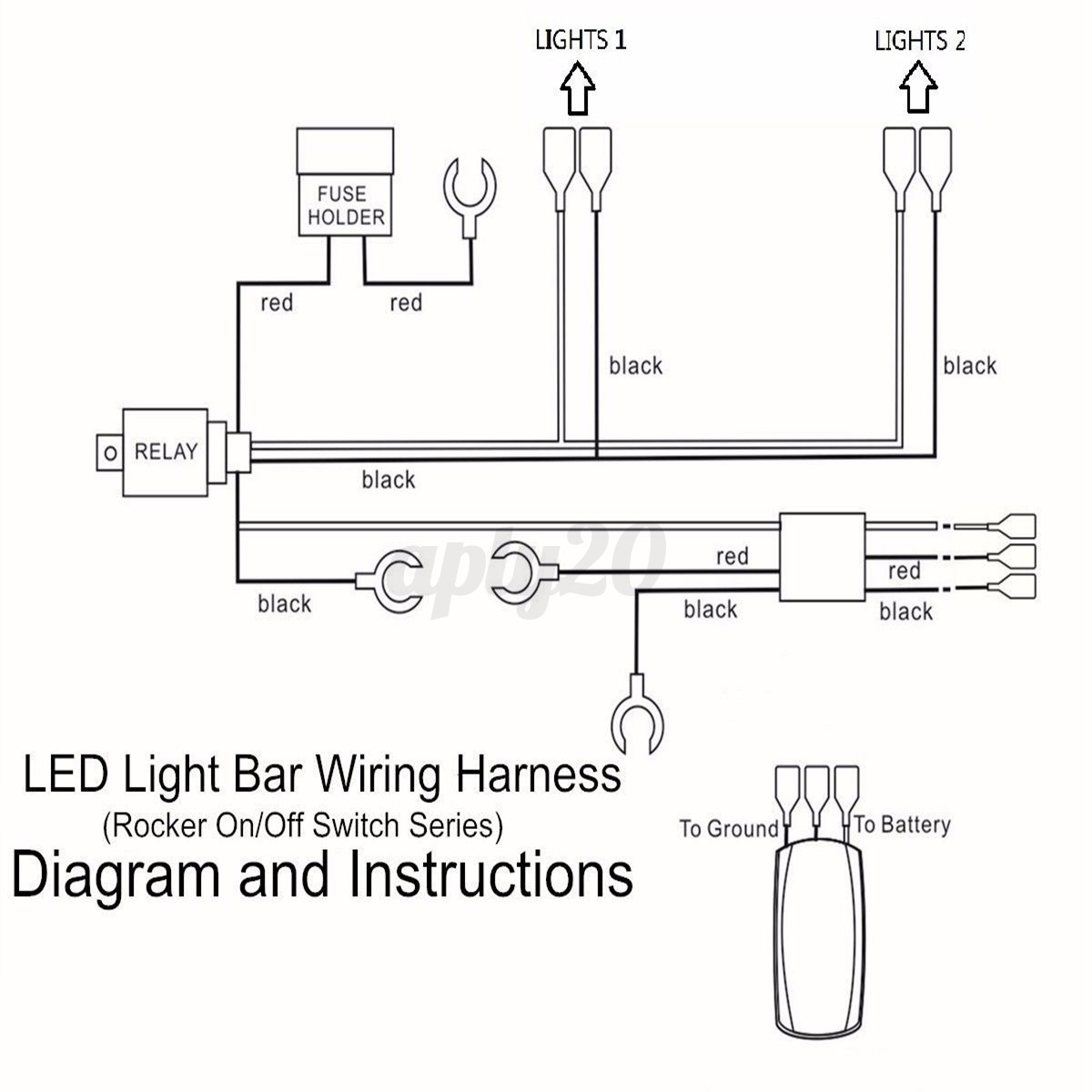 led light bar wiring harness diagram diagram