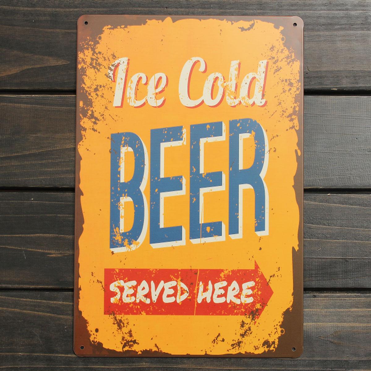 30X20CM Metal Poster Pub Wall Decor Tavern Chic Bar Club Vintage ...