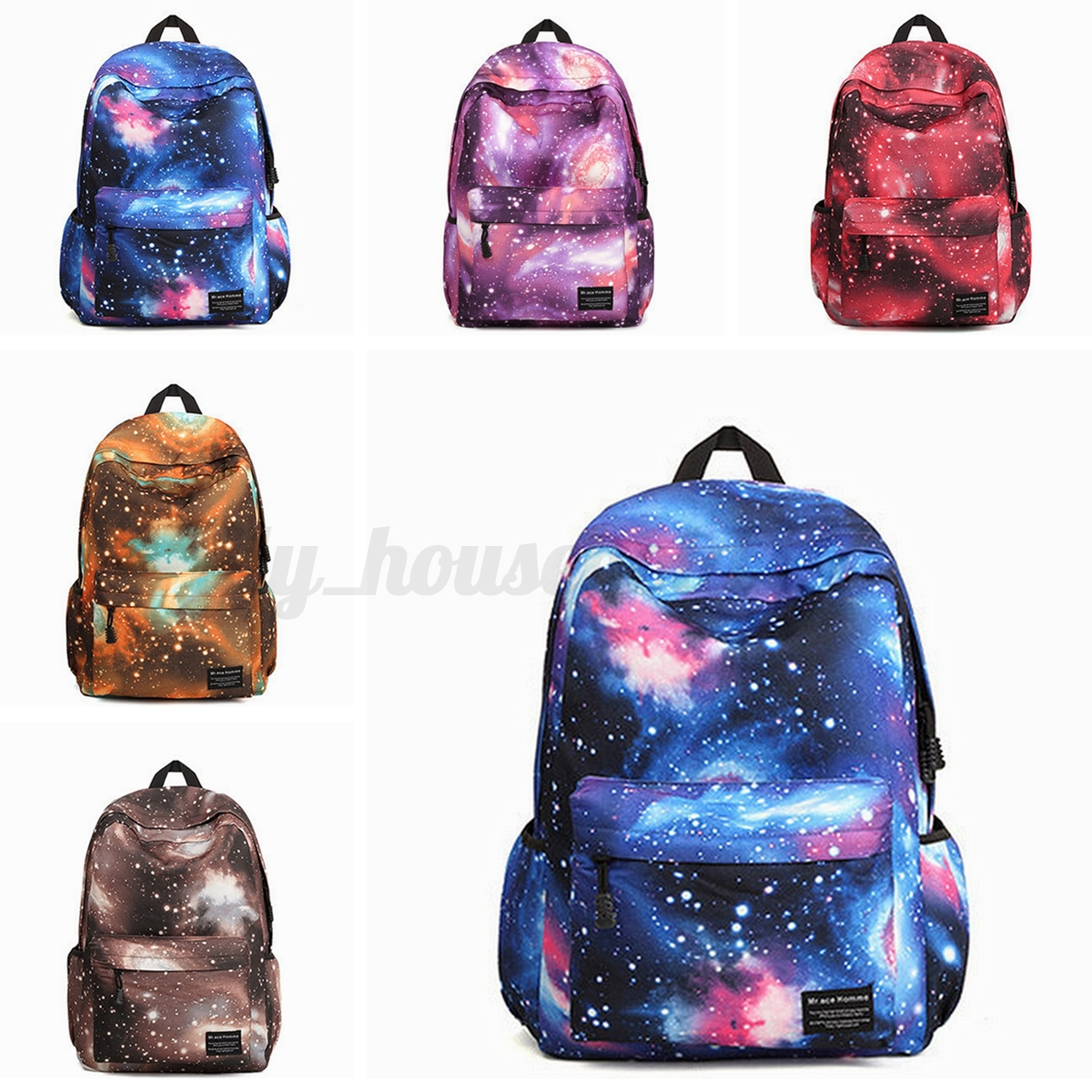 galaxy rucksack reisetasche schule schulrucksack schulter tasche damen m dchen ebay. Black Bedroom Furniture Sets. Home Design Ideas