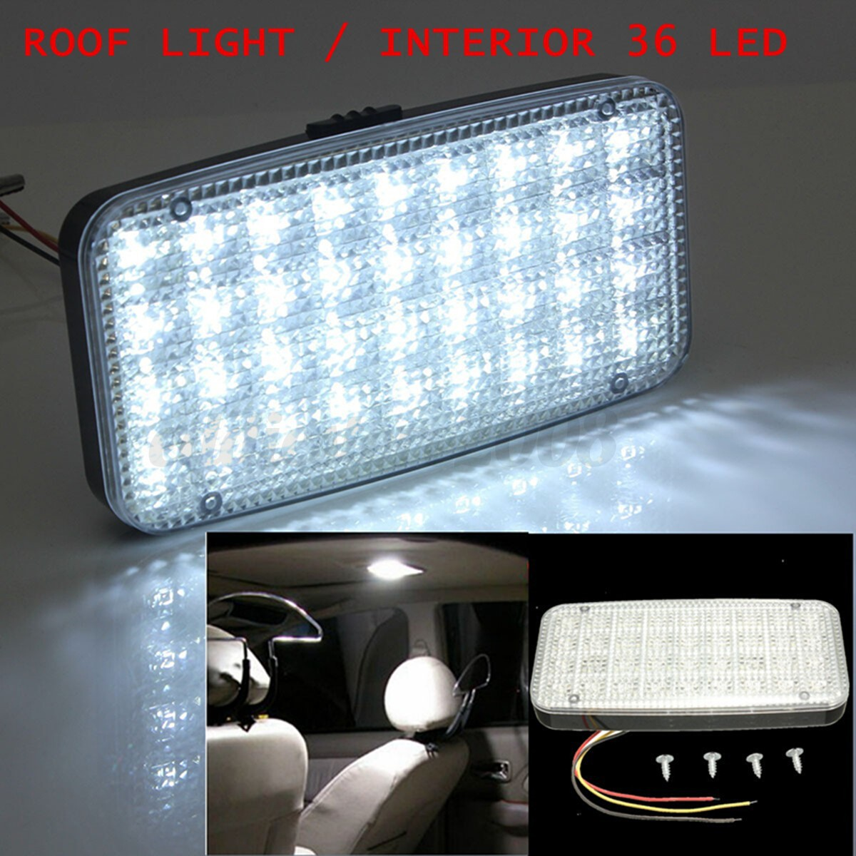 car vehicle ceiling dome roof interior light white 12v 36 led reading cabin lamp ebay. Black Bedroom Furniture Sets. Home Design Ideas