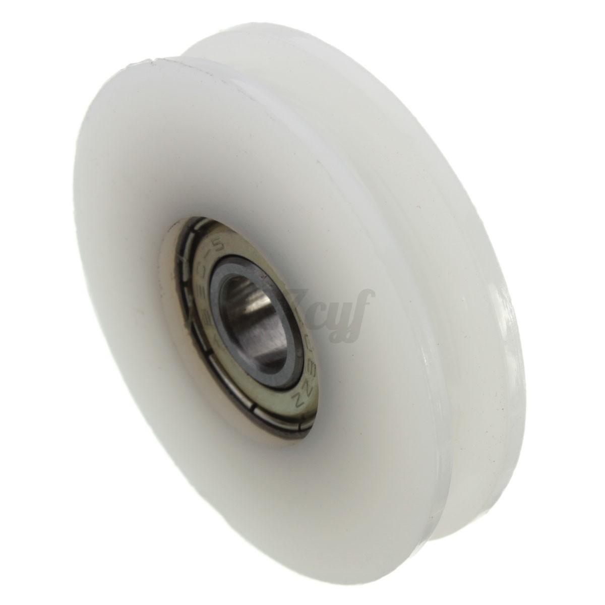 Round V Groove Nylon Pulley Wheels Roller Runner For Slide