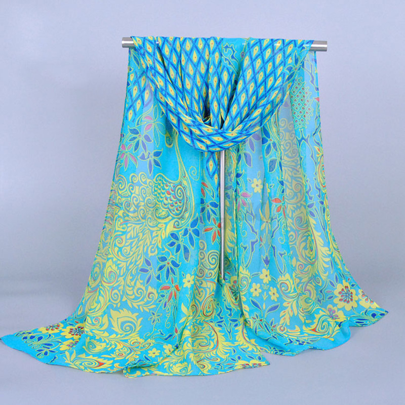 Image result for chiffon peacock scarf