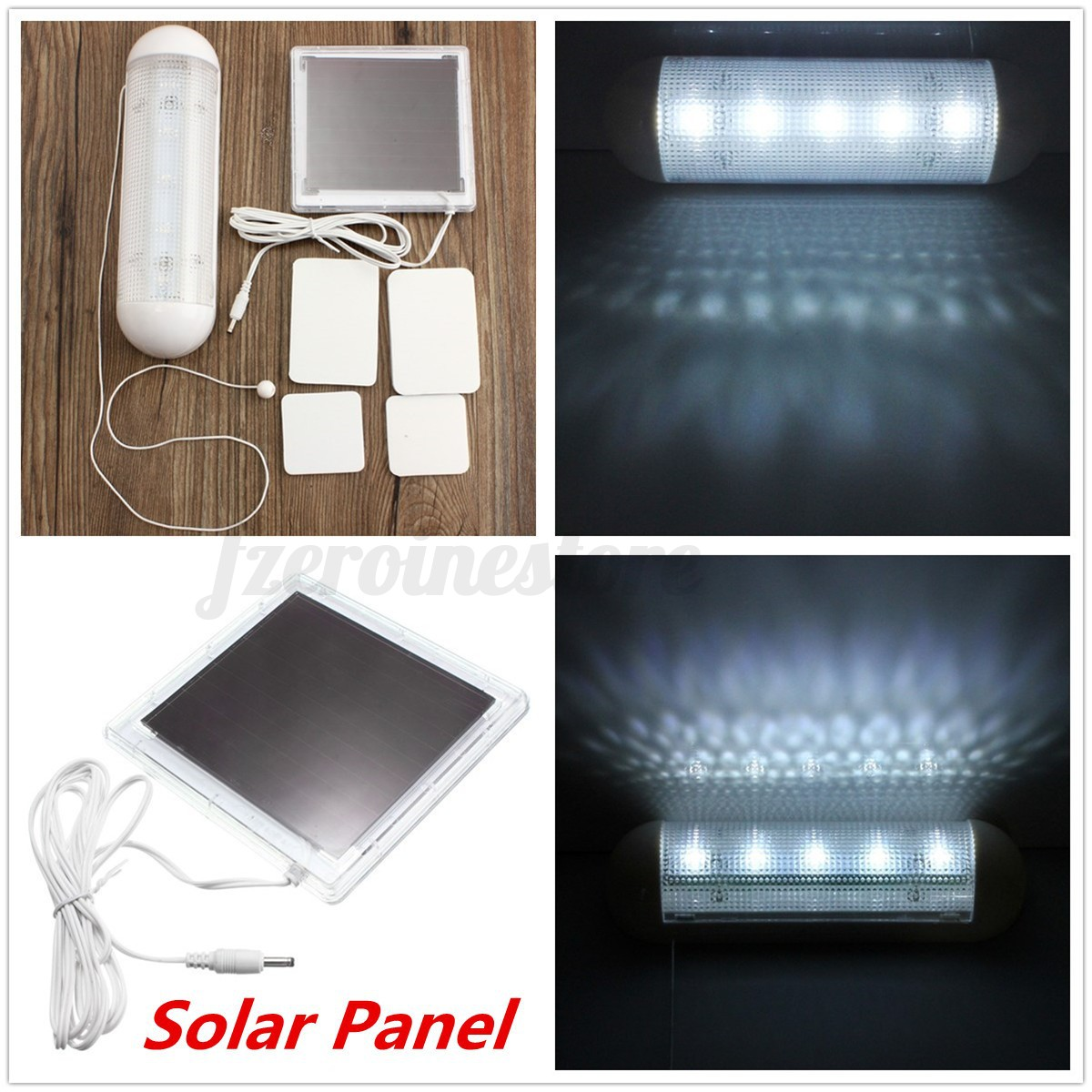SOLAR Panel Powered RECHARGEABLE LED SHED LIGHT Garden